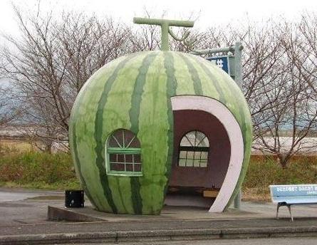 创意公交车站